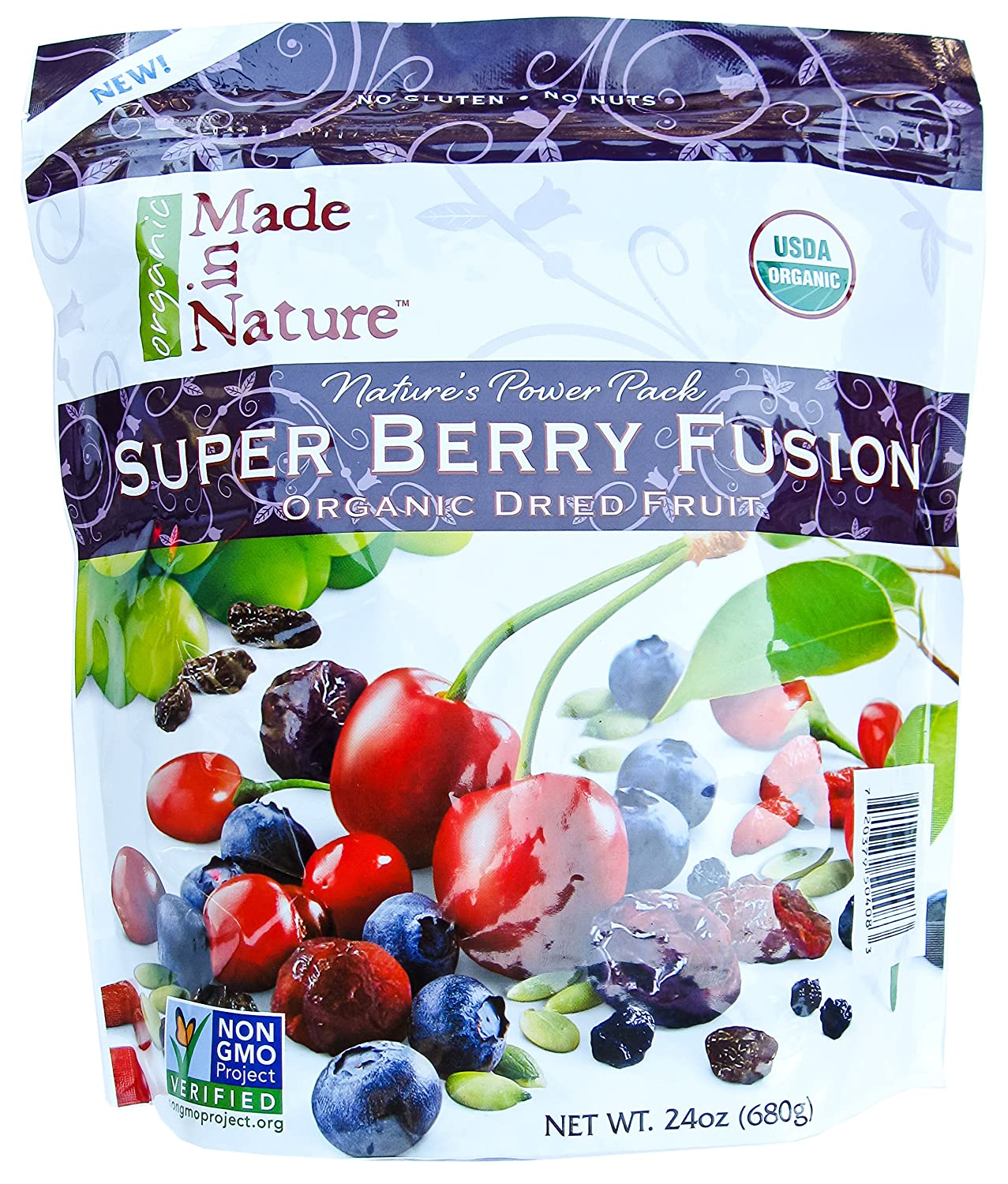 Made in Nature Organic Super Berry Fusion 24oz with optional 5 FREE SAMPLE STICKS of True Citrus Lemonade. made in nature organic super berry fusion 24oz with optional 5 free sample sticks of true citrus lemonade