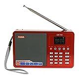 Tecsun ICR-110 4-in-1 Digital Portable AM/FM Radio + MP3 Player + Desktop/Laptop Computer USB Speaker + Digital Recorder, Color Red (English Version)