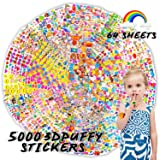 Kids Stickers(5000+ Pcs/Pack), 64 Different Sheets 3D Puffy Stickers for Teens, Toddlers, Girls and Boys. Including Animals, Cars, Trucks, Airplane, Food, Letters, Flowers, Pets and More. (Tamaño: 5000 3D Puffy Stickers)
