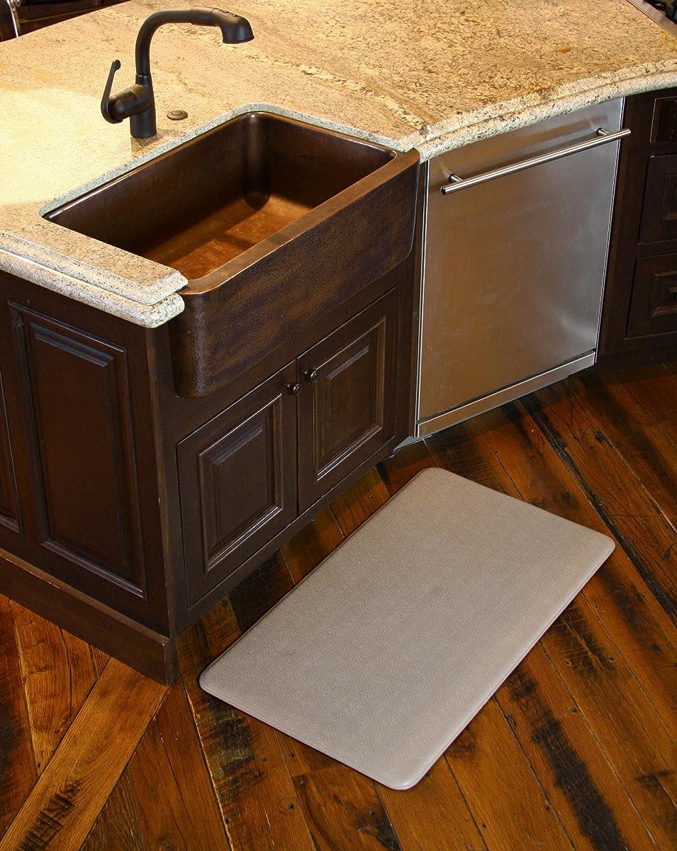 Imprint Cumulus9 Kitchen Mat Nantucket Series Island Area Runner26 in. x 72 in. x 5/8 in. Mocha