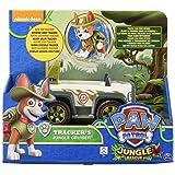 Paw Patrol, Jungle Rescue, Tracker's Jungle Cruiser, Vehicle and Figure (Color: Multicolor, Tamaño: n.a.)