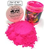 Stardust Micas Neon Pigment Powder for Soap Making, Slime Coloring, Epoxy Resin, Bright True Fluorescent Colors Cold Process Stable Matte Dye Colorant Poppin Pink (Color: Poppin Pink, Tamaño: 72 Gram Jar)