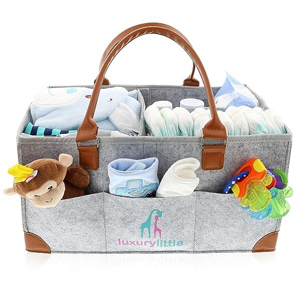 Baby Diaper Caddy Organizer - Extra Large Storage Nursery