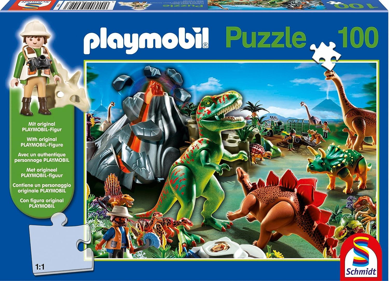 Im Dinoland, 100 Teile. Kinderpuzzle Playmobil mit Figur online kaufen
