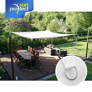 sunprotect Sonnensegel professional, 3, 5x4, 5m, Rechteck, weiß Überprüfung und weitere Informationen