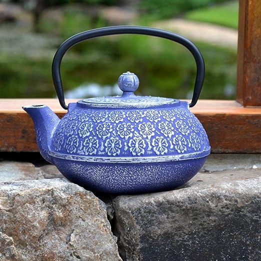 Primula  40-Ounce 兰花铸铁茶壶
