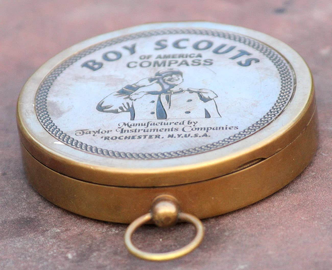 American Boy Scout Compass Antique Vintage Brass Compass 2