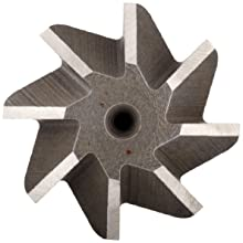 "Niagara Cutter CH126 Single Angle Shank Type Chamfering Cutter, High Speed Steel, Uncoated (Bright), Weldon Shank, 45 Degree Angle, 3/4"" Cutter Diameter, 8 Tooth, 3/16"" Width"