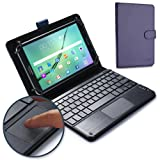 Nvidia Shield Tablet keyboard case, COOPER TOUCHPAD EXECUTIVE 2-in-1 Wireless Bluetooth Keyboard Mouse Leather Travel Cases Cover Holder Folio Portfolio + Stand Nvidia Shield Tablet (Blue)