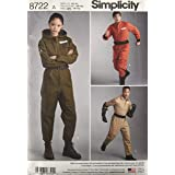 Simplicity 8722 Teen and Adult Coverall Costume Sewing Pattern, Sizes XS-XL