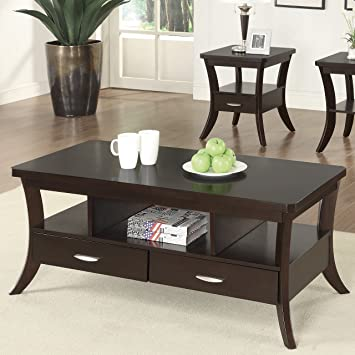 Coaster Home Furnishings 900166 Coffee Table, Espresso