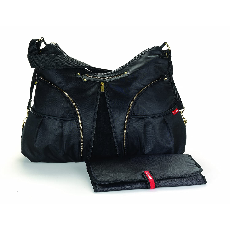 skip hop versa diaper bag in black