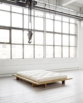 KARUP - JAPAN, letto matrimoniale giapponese misura 188 in legno grezzo