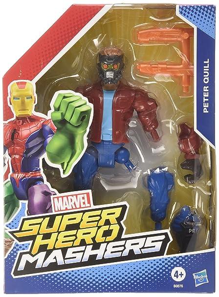 Hasbro – Marvel – Super Hero Mashers – Star Lord – Figurine à Assembler 15 cm