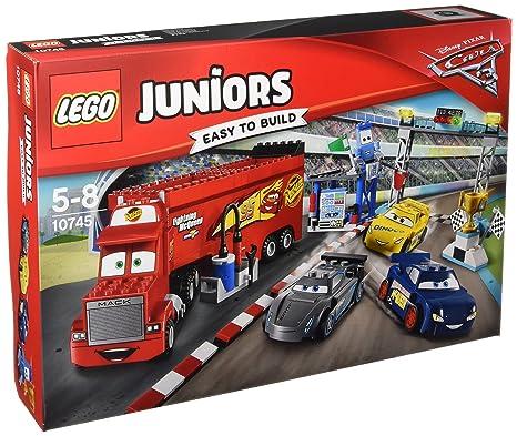 LEGO - 10745 - LEGO Juniors - Jeu de Construction - La Finale des 500 miles de Floride