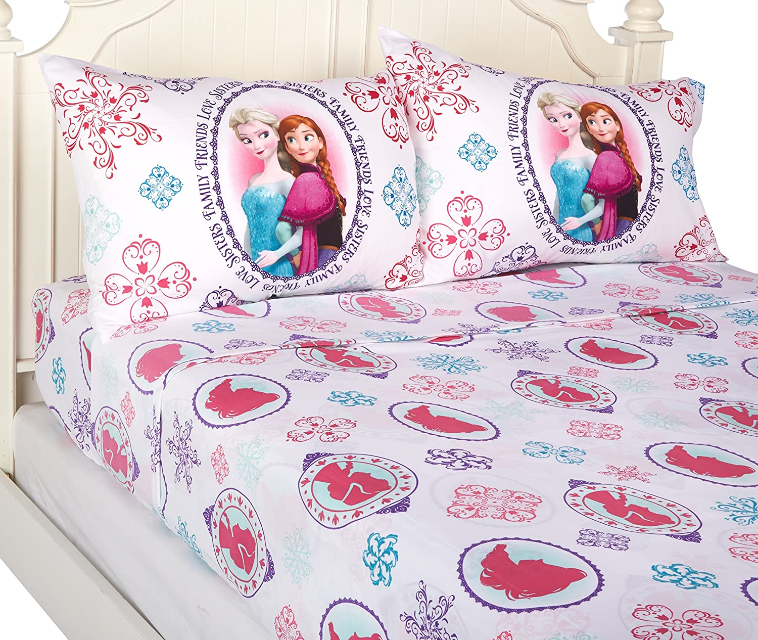 Disney Frozen Anna and Elsa Snowflake Sheet Set