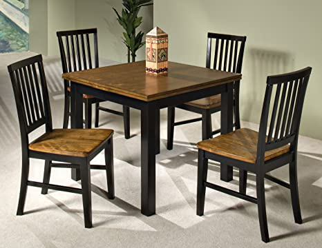Siena 5 Pc Black & Cider Dining Set