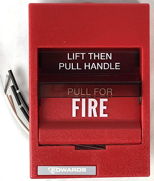 Edwards 279B-1110 Fire Alarm Pull Station (Dual Action) (Color: red)