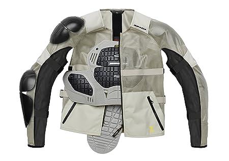 Spidi T177-341 Veste Airtech Armor, Noir/ Glace, Taille : L