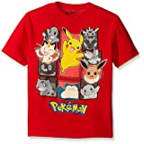 Pokemon Little Boys Group Short Sleeve Tee, Red, Medium-5/6 (Color: Red, Tamaño: Medium-5/6)