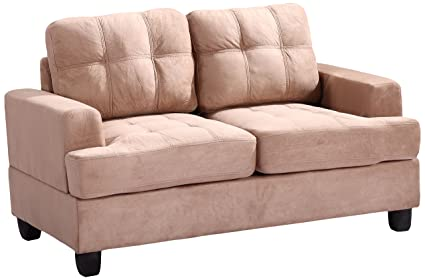 Glory Furniture G514A-L Living Room Love Seat, Mocha