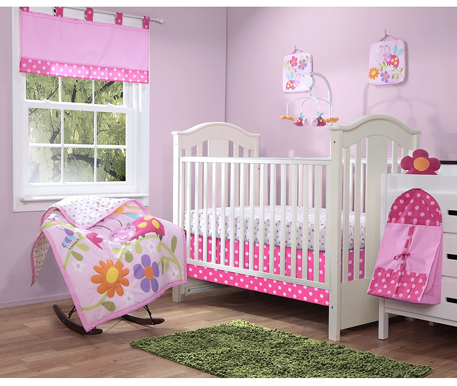 Baby Boom Lady Bug Crib Bedding