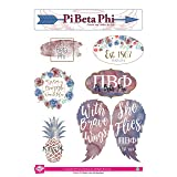 Pi Beta Phi - Sticker Sheet - Watercolor Theme (Color: Full Color)