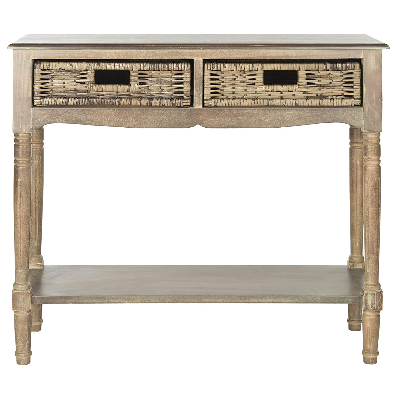 Safavieh American Home Collection Corbin Washed Natural Pine Console Table 2