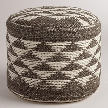Boulevard Triangle Wool Pouf - World Market