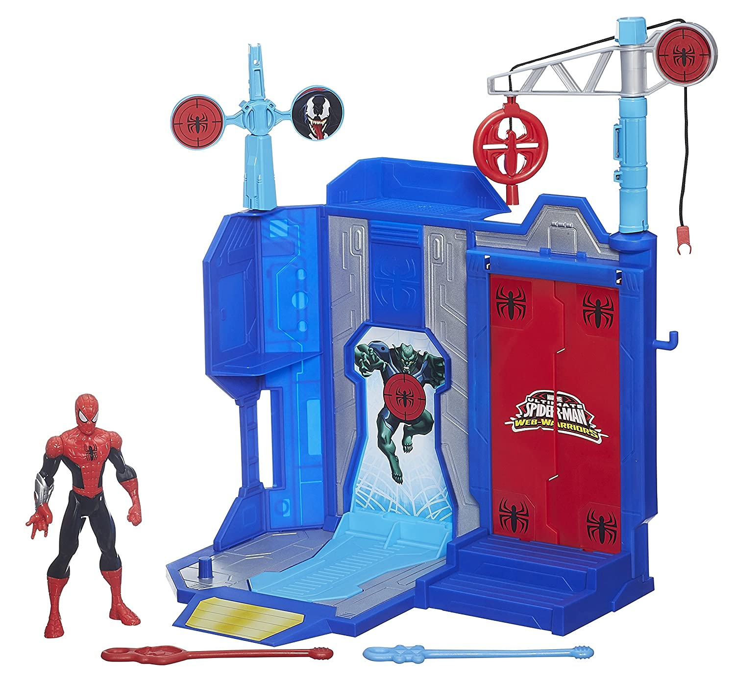 Marvel Ultimate Spider-Man – Web Warriors – Trickshot Showdown Spielset [UK Import] als Weihnachtsgeschenk