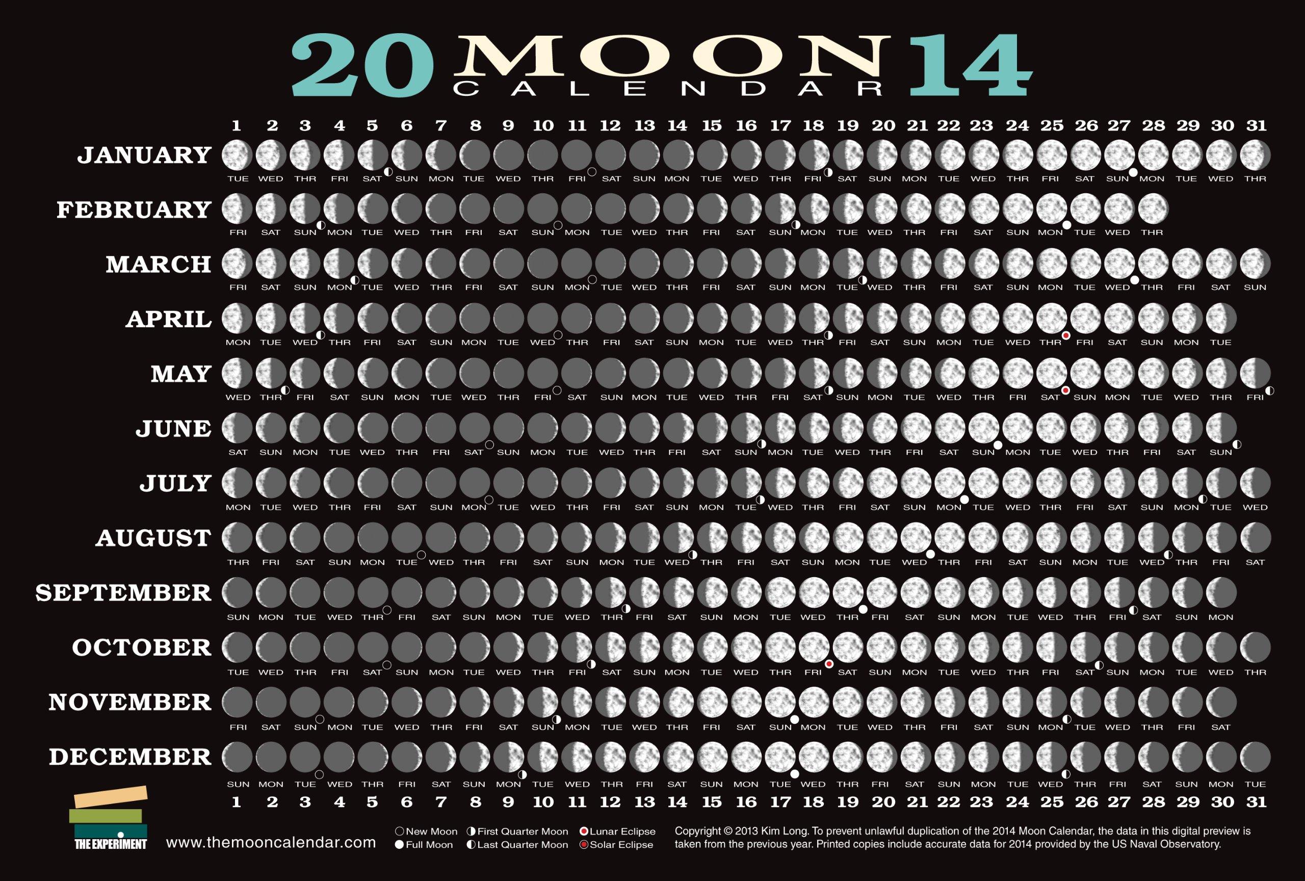 lunar calendar 2014