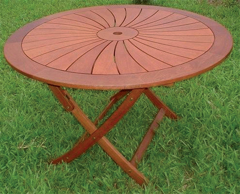 table Round Gartenmöbel aus Holz Falten 120 cm günstig online kaufen