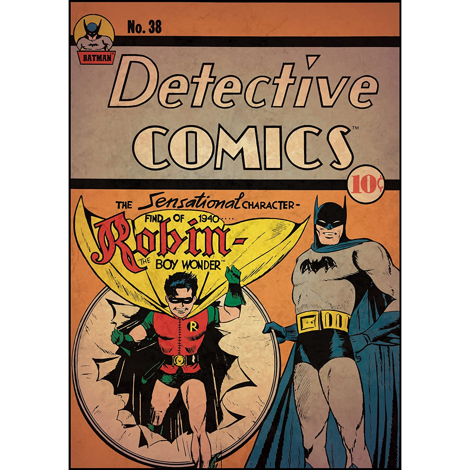 Batman with Robin Peel and Stick Comic Cover
