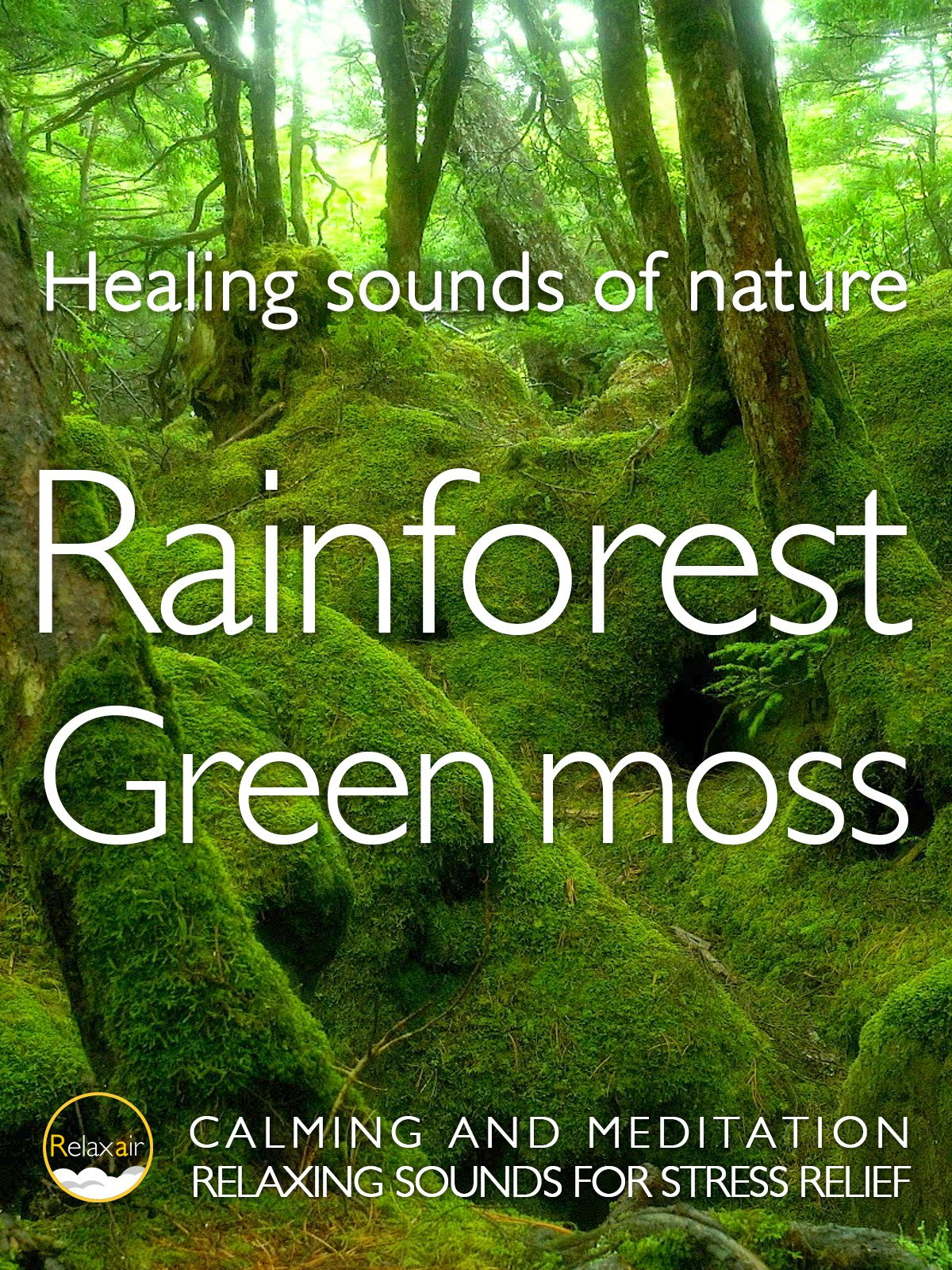 Healing Sound of Nature Rainforest Green moss Calming and Meditation Relaxing Sound for Stress relief