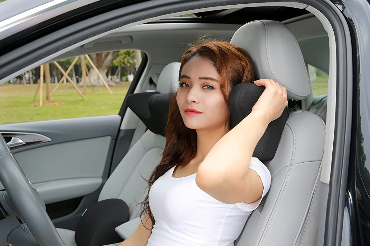 Car Headrest Pillow Car Neck Pillow Memory Foam With
