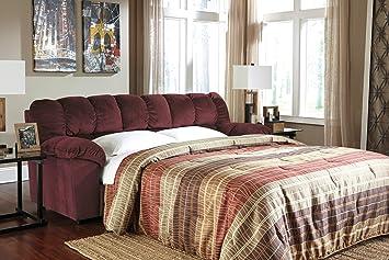 Julson Burgundy Full Sofa Sleeper