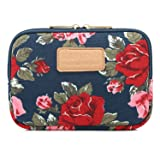 Kayond 8 Inch Tablet Sleeve Water-Resistant Canvas Storage Bag Charger case (Peony) (Color: peony)