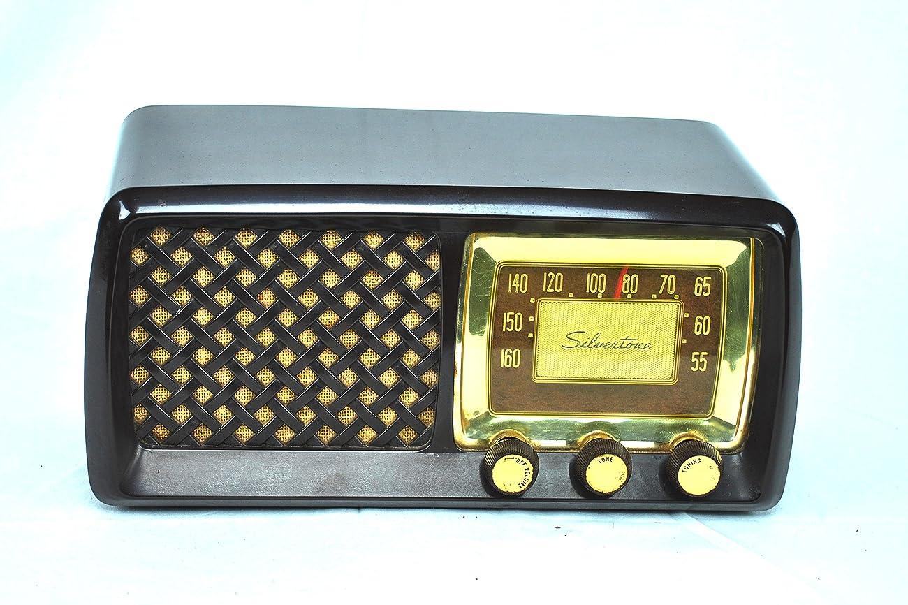 Working Antique Vintage 1952 Silvertone AM Radio 1