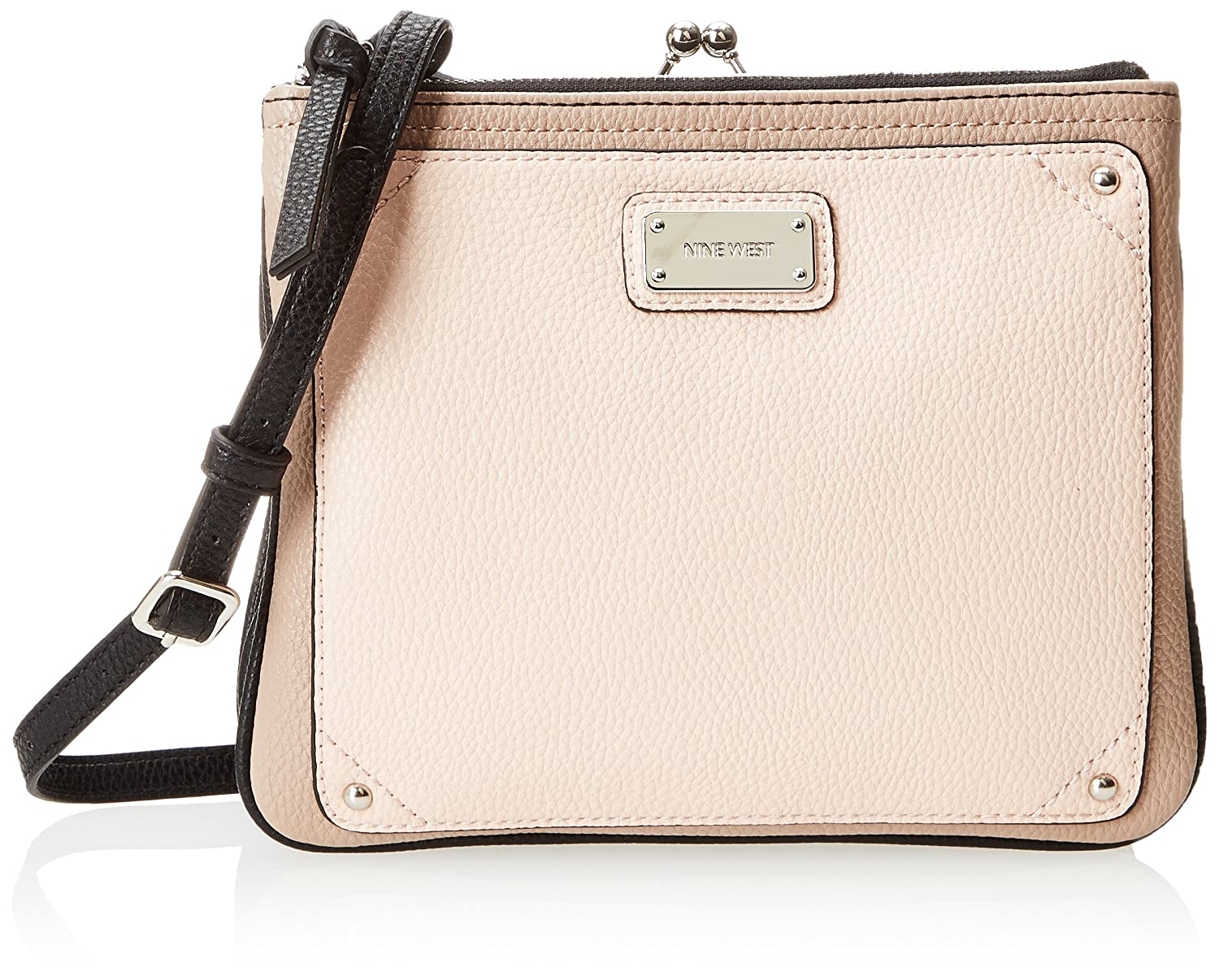 Nine West Double Vision B MD Cross Body Bag,Black/Ivory Multi,One Size
