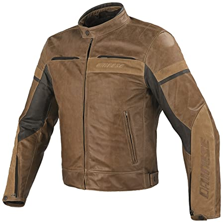 Dainese 1533685 Stripes Evo Pelle Homme Marron (tabac) Taille : 46