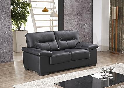 Voll-Leder Sofa 2-Sitzer Ledersofa Sessel Dreisitzer Couch 156-2-S