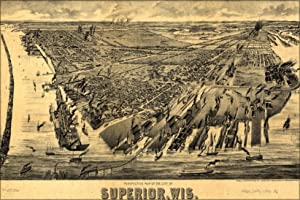 Perspective Map Of Superior, Wisconsin 1893