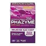 Phazyme Maximum Strength Anti-Gas Softgels | 250 mg Simethicone Relieves Gas Fast | 36 Softgels
