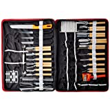 Agile-shop 80pcs/Set Portable Vegetable Fruit Food Wood Box Peeling Carving Tools Kit Pack (Color: Black, red)