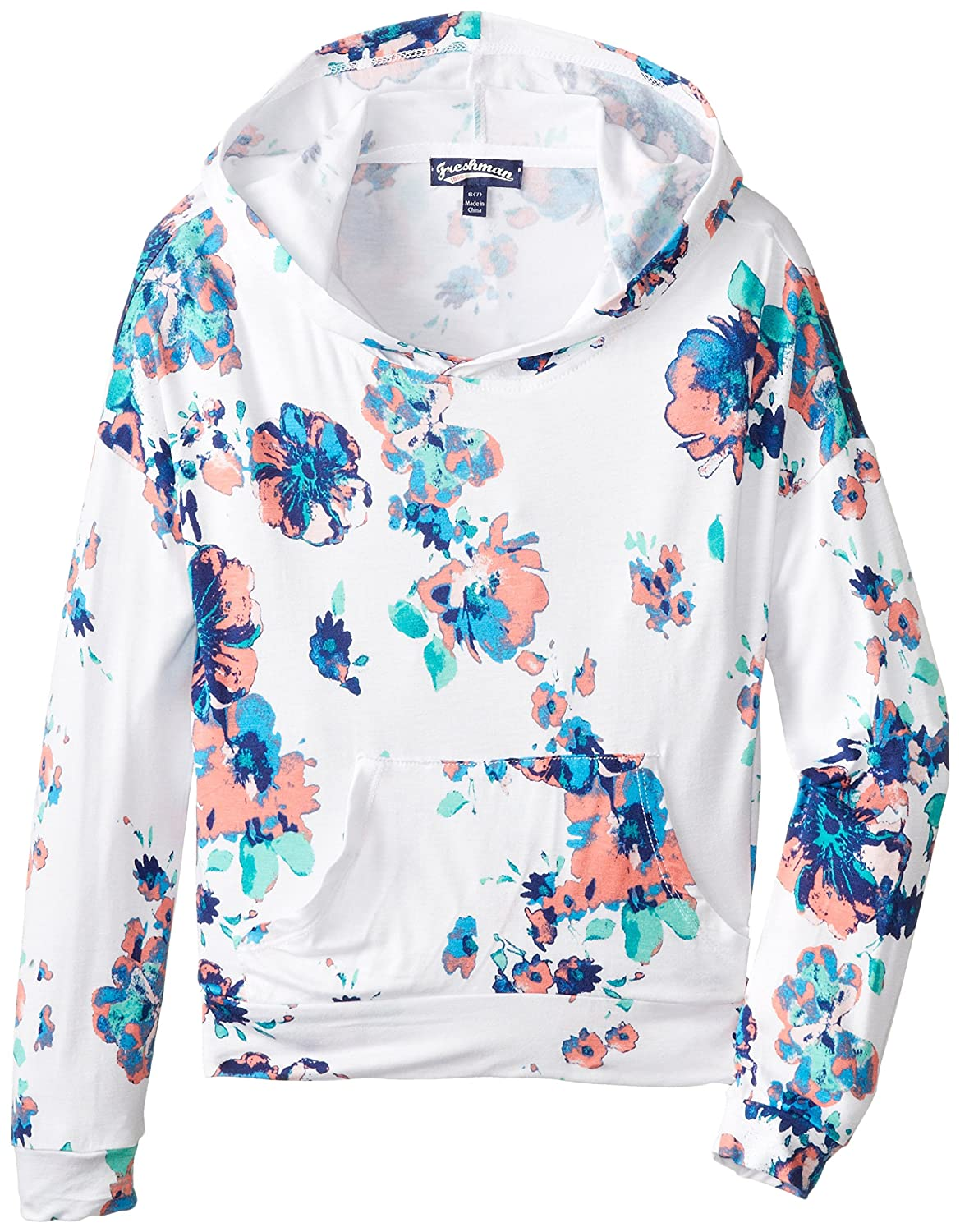 Take Out Big Girls' Floral Print Pullover Hoodie