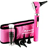 Awans Mini Compact Pen Led Torch/Light, Fibre Optic with Pouch and Accessories, Pink (Color: Pink)