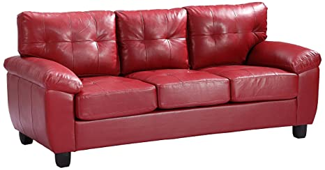 Glory Furniture G909A-S Living Room Sofa, Red