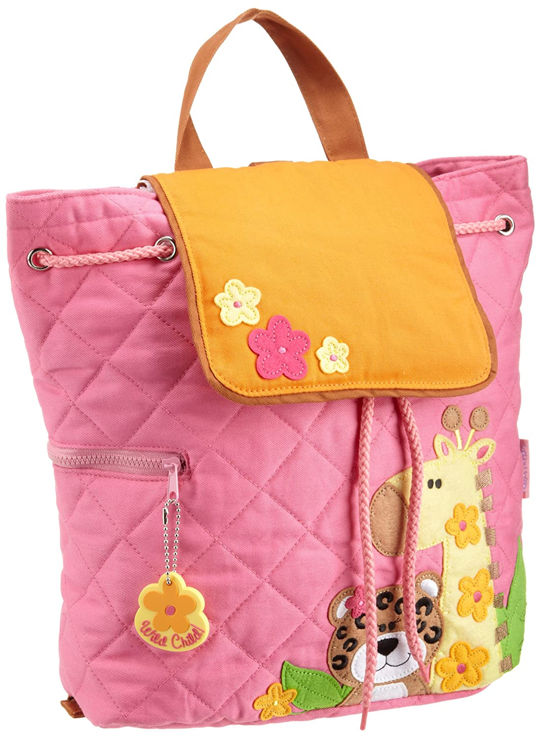 Stephen Joseph Zoo Girl Quilted Backpack