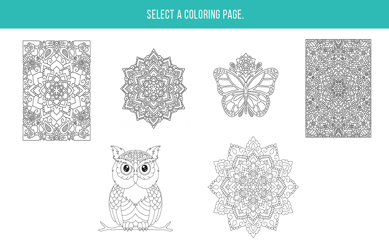Zen coloring book for adults appstore for Coloring books for adults on amazon