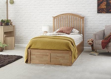Madrid 3Ft Holz Ottoman Lift Up Bett mit Stauraum eiche